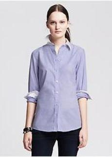 Fitted Non-Iron Blue Shirt
