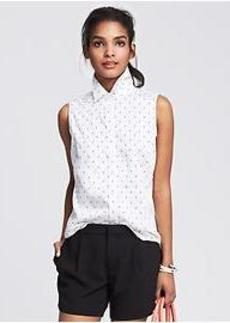 Fitted Non-Iron Dot Shirt