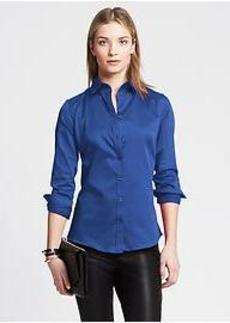 Fitted Non-Iron Sateen Shirt