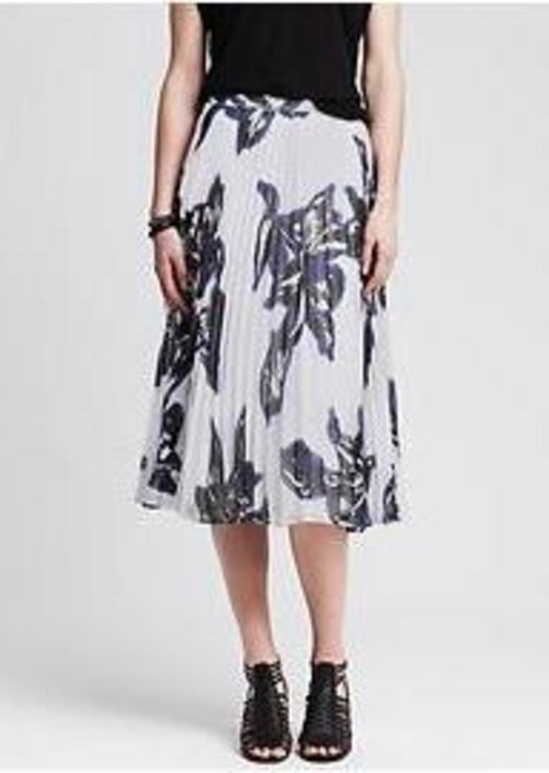 banana republic floral pleated midi skirt skirts shop