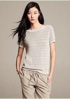 Heritage Metallic-Stripe Pullover