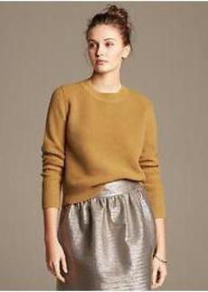 Heritage Textured Cropped Pullover