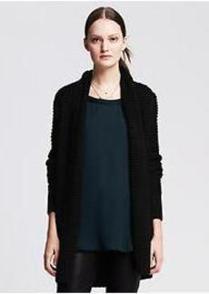 Horizontal Stitch Open Cardigan
