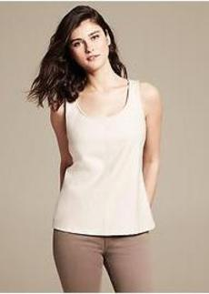 Ivory Faux-Leather Top