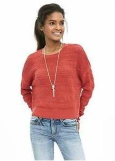 Lace-Stitch Pullover