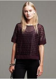 Lacquered Mesh Top