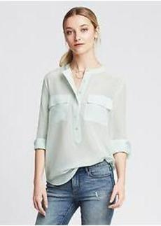Light Silk Popover Blouse