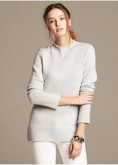 Merino Wool Funnel-Neck Pullover