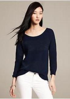 Metallic Stripe Pullover