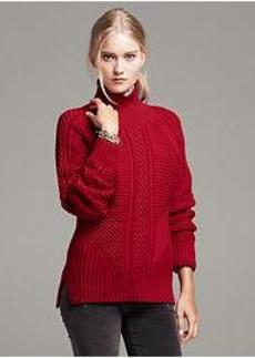 Mixed Cable-Knit Pullover