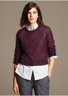 Mohair Cropped Pullover