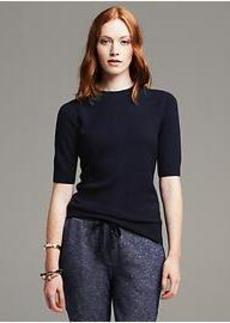 Navy Back-Zip Pullover