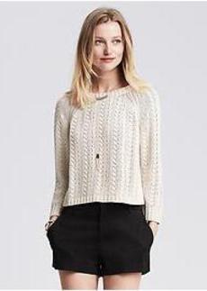 Open-Stitch Pullover