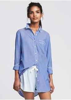 Piped Lounge Shirt