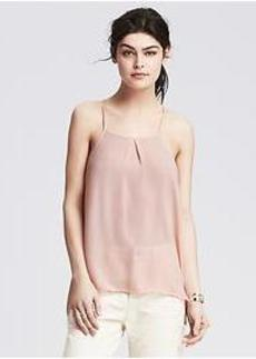 Pleated High/Low Cami