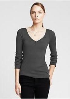 Ribbed Lounge Henley