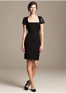 Roland Mouret Collection Lace-Sleeve Dress