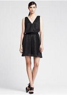Shine Double-Vee Dress