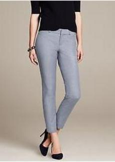 Sloan-Fit Chambray Slim Ankle Pant