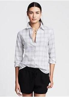 Soft-Wash Checkered Flannel Shirt