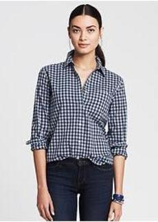 Soft-Wash Gingham Boyfriend Shirt