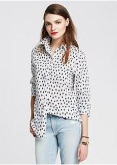 Soft-Wash Navy Ikat Shirt