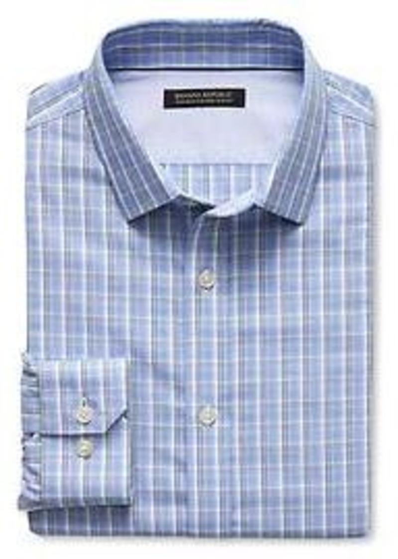 Banana republic tailored slim fit non iron check shirt for Slim fit non iron shirts