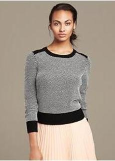 Textured Colorblock Crew Pullover