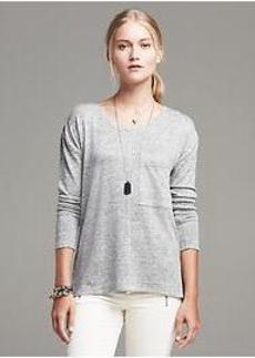 Textured Drop-Tail Tee