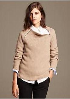 Textured Zip-Neck Pullover