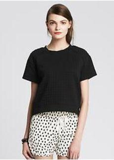 Waffle-Knit Cropped Top