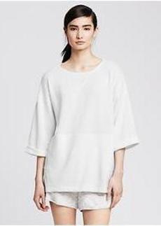 White High/Low Sweatshirt