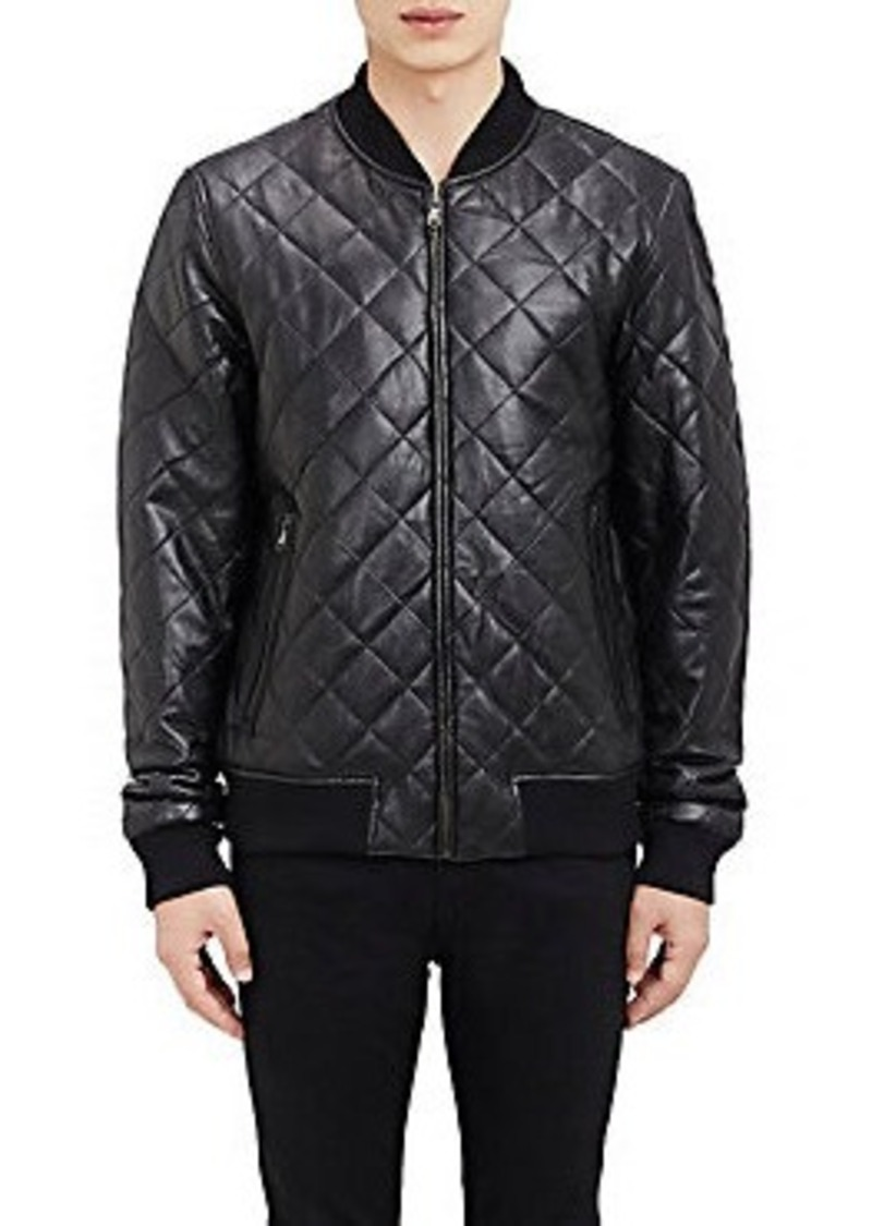 Barneys New York Barneys New York Quilted Leather Bomber