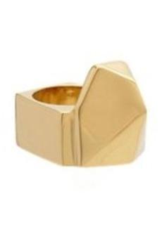 Saint Laurent Gold Geometrique Ring