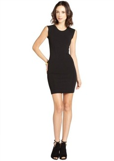 French Connection black stretch 'Monique' cap sleeve dress