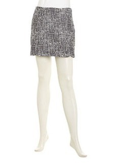 Joie Tabby High-Waist Mini Skirt, Caviar