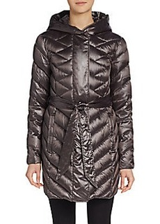 Ellen Tracy Iridescent Puffer Coat