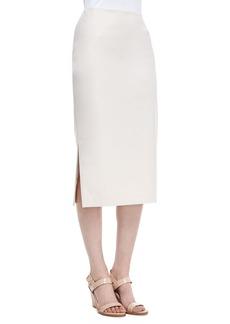 Lafayette 148 New York Dayna Over-the-Knee Pencil Skirt, Raffia