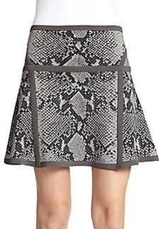 Diane von Furstenberg Flote Fit-&-Flare Snake-Print Skirt