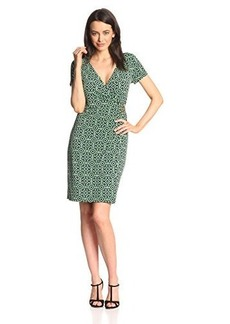 Jones New York Women's Short-Sleeve Wrap Dress with Buckle