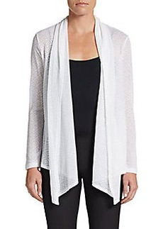 Ellen Tracy Diamond-Stitch Wrap Cardigan
