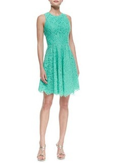 Shoshanna Sleeveless Full-Skirt Lace Dress