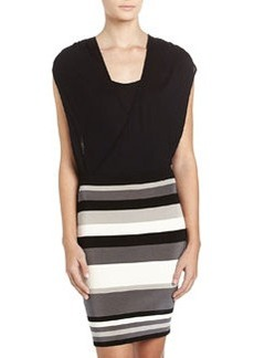 Laundry by Shelli Segal Bandage Skirt Combo Dress, Charcoal/Multicolor