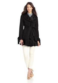 Cole Haan Women's Nylon Taffeta Trench Coat
