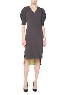 J Brand Ready to Wear Charlize Reversible Dress, Battleship/Acid Green