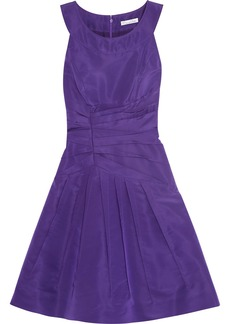 Oscar de la Renta Ruched silk-faille dress