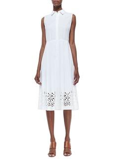 Lafayette 148 New York Bronte Sleeveless Shirt Dress
