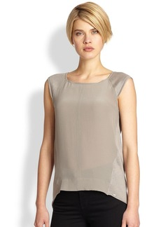 Saks Fifth Avenue Collection Knit Combo Top