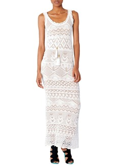 Emilio Pucci Empire-Waist Crochet Maxi Dress