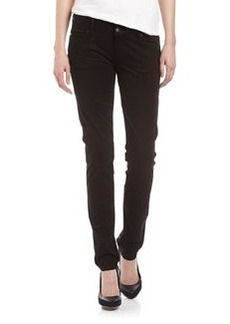 Hudson Collin Skinny Twill Pants, Black
